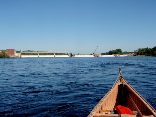 Shawmut dam construction