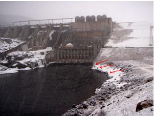 Wyman Dam on the Kennebec River - Maine