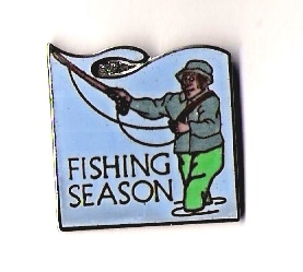 Fishing Season Pin